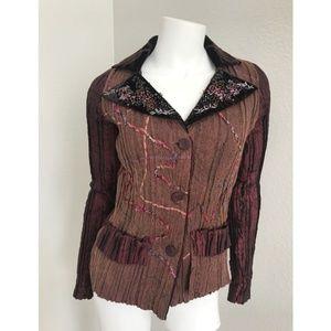 ALBERTO MAKALI Desginer Blazer Jacket Embellished